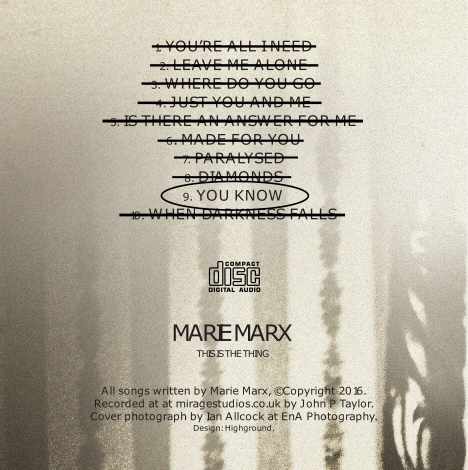Marie Marx - This is the Thing Album Track 9